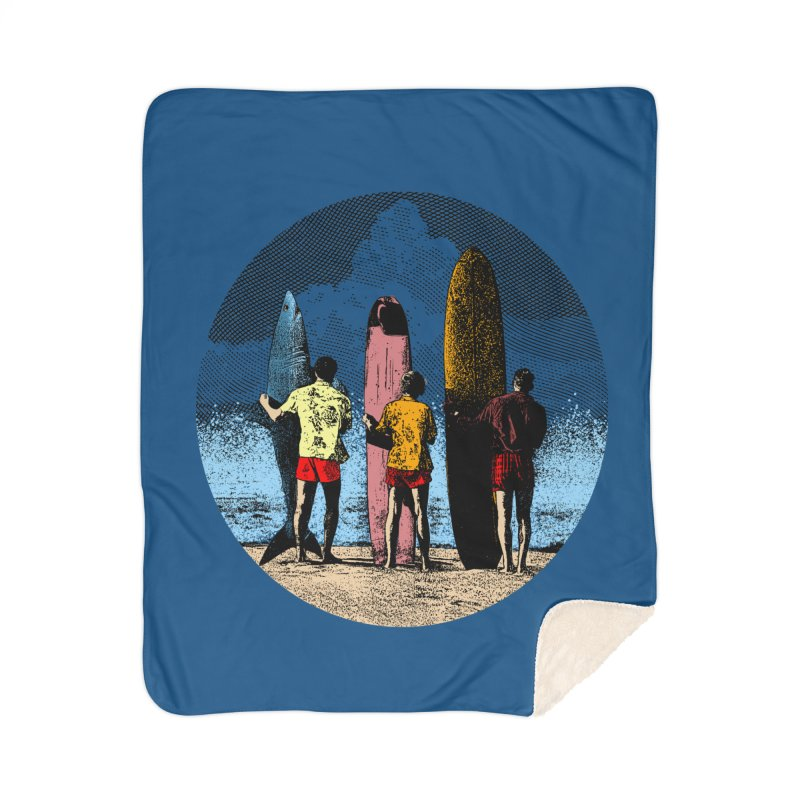 Shark Surfer Home Sherpa Blanket Blanket by kooky love's Artist Shop
