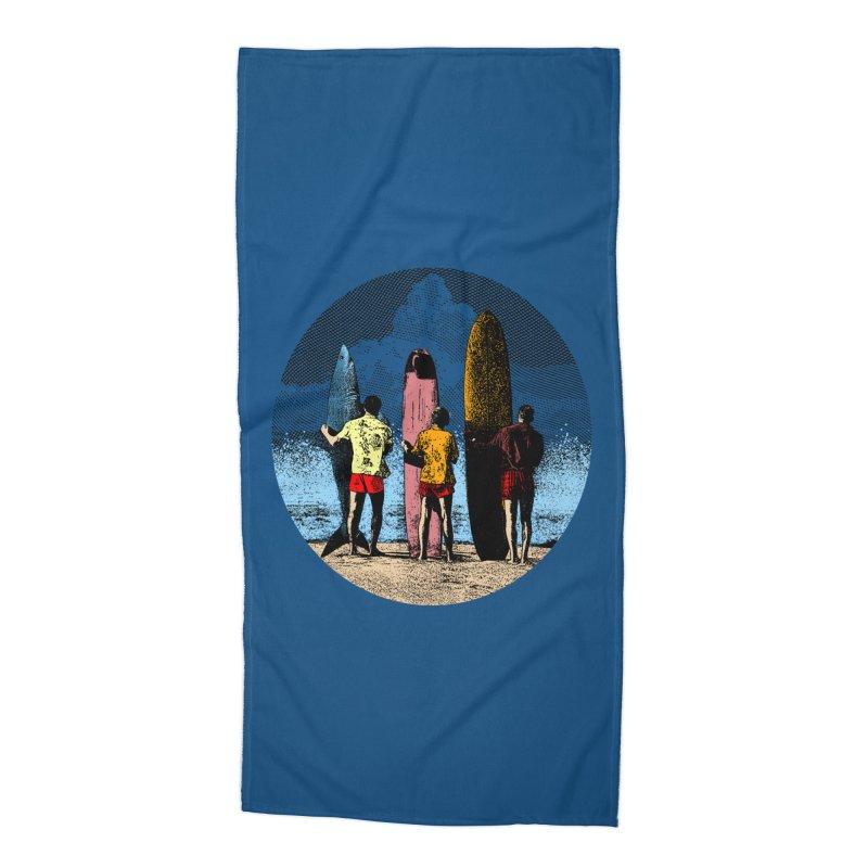 Shark Surfer Accessories Beach Towel by kooky love's Artist Shop