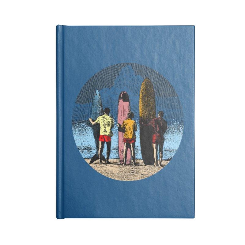 Shark Surfer Accessories Lined Journal Notebook by kooky love's Artist Shop