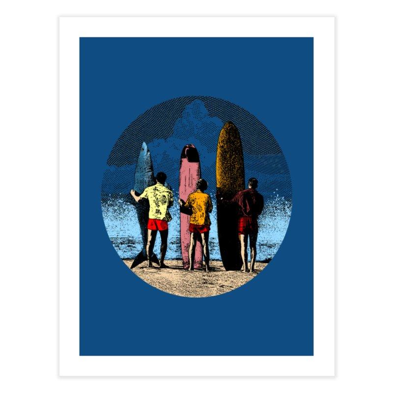 Shark Surfer Home Fine Art Print by kooky love's Artist Shop