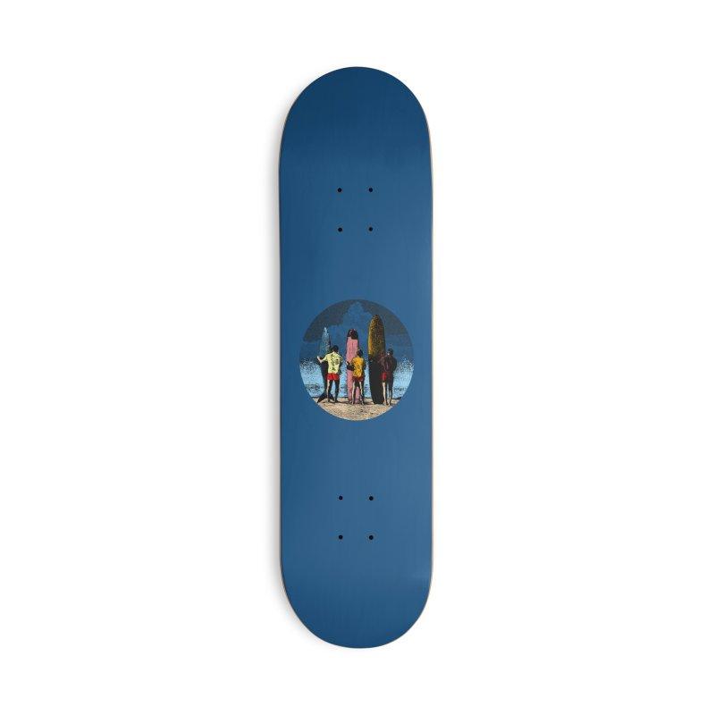 Shark Surfer Accessories Skateboard by kooky love's Artist Shop