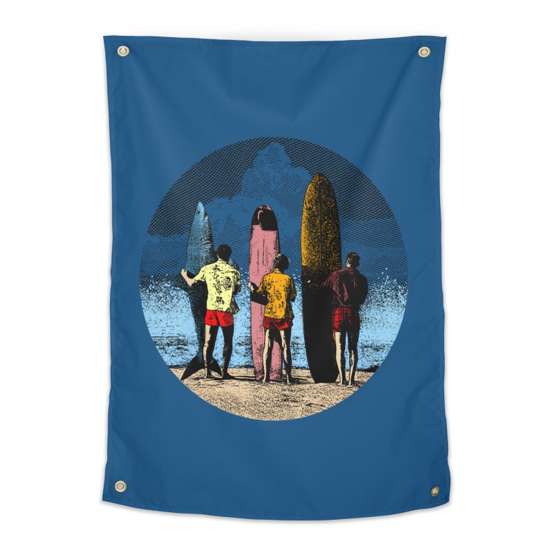 Shark Surfer Home Tapestry by kooky love's Artist Shop