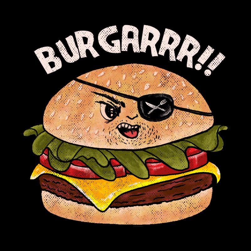BURGARRR! Home Mounted Aluminum Print by kooky love's Artist Shop