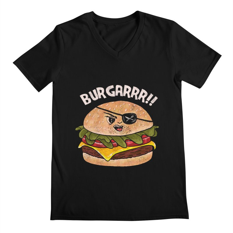 BURGARRR! Men's Regular V-Neck by kooky love's Artist Shop