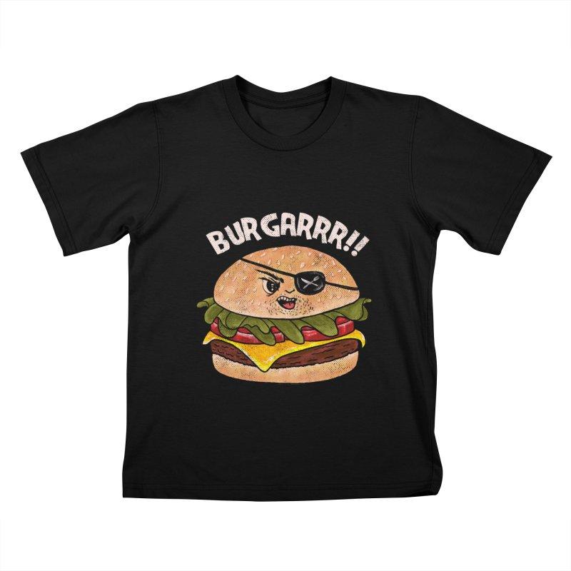 BURGARRR! Kids T-Shirt by kooky love's Artist Shop