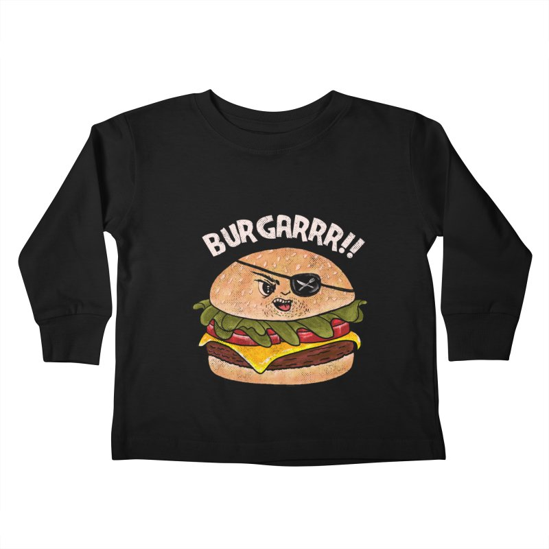 BURGARRR! Kids Toddler Longsleeve T-Shirt by kooky love's Artist Shop