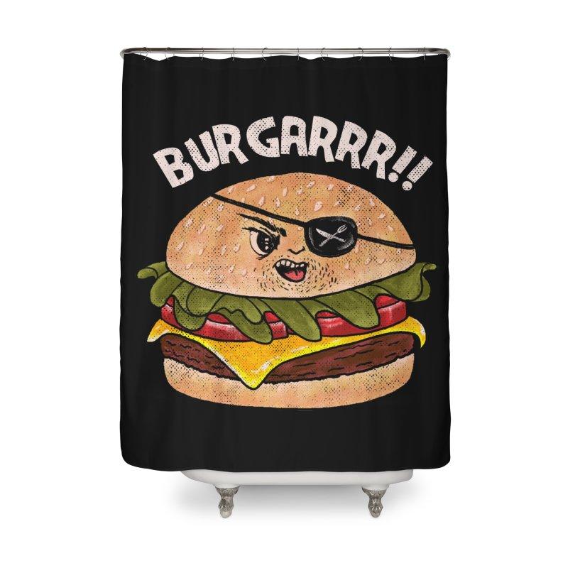 BURGARRR! Home Shower Curtain by kooky love's Artist Shop