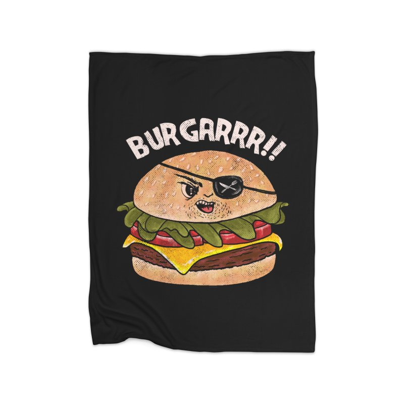 BURGARRR! Home Fleece Blanket Blanket by kooky love's Artist Shop