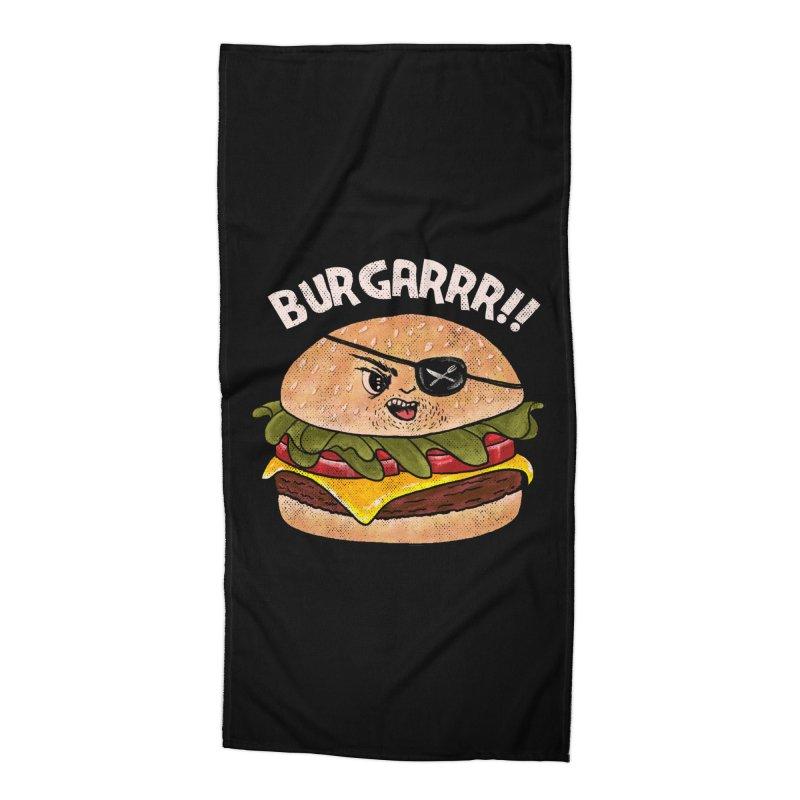BURGARRR! Accessories Beach Towel by kooky love's Artist Shop