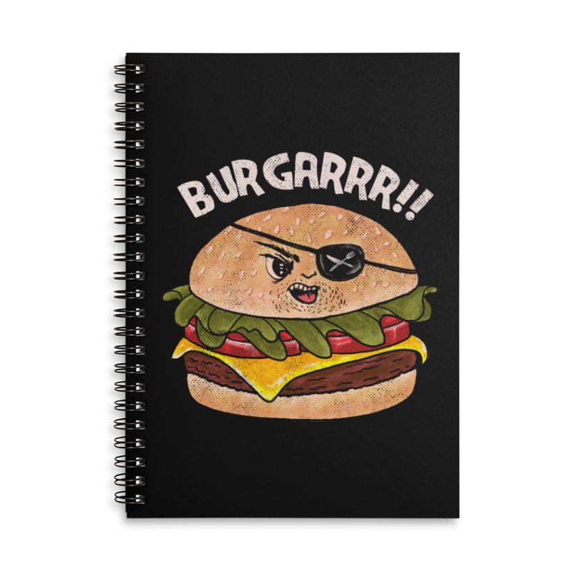 BURGARRR! Accessories Lined Spiral Notebook by kooky love's Artist Shop
