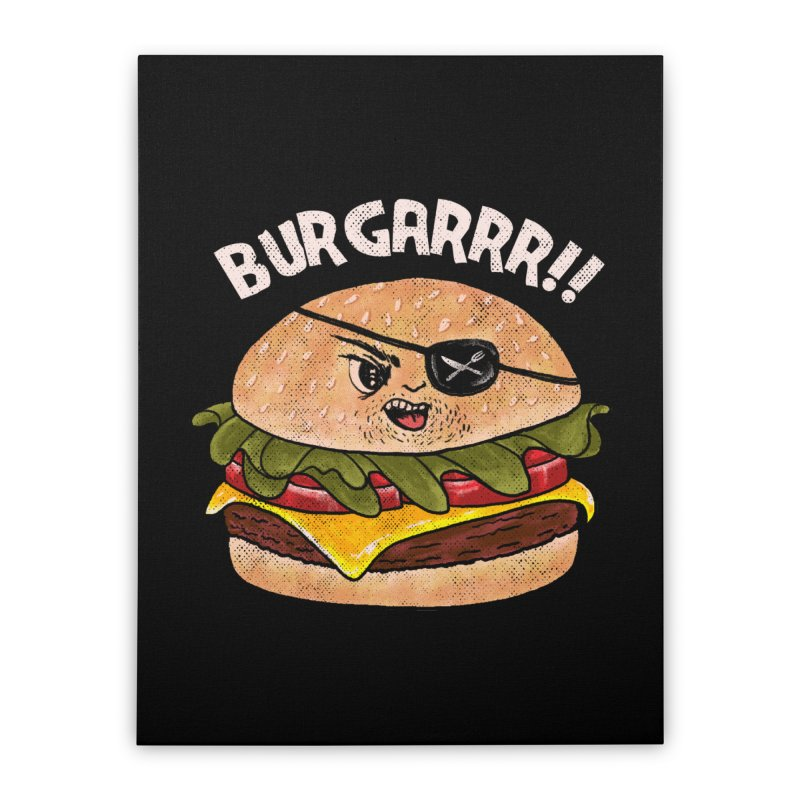 BURGARRR! Home Stretched Canvas by kooky love's Artist Shop