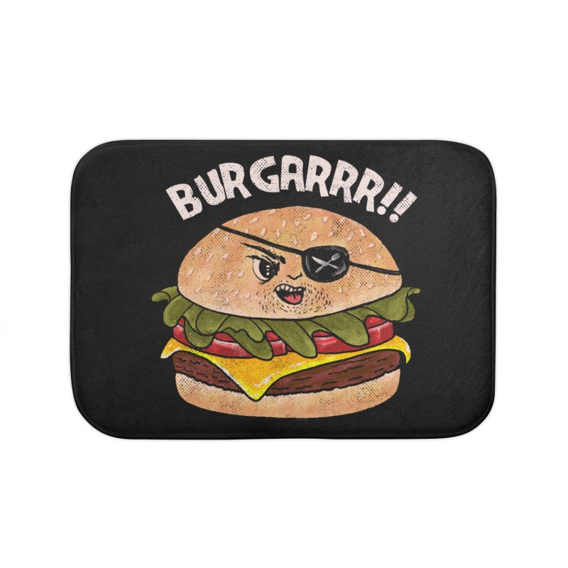 BURGARRR! Home Bath Mat by kooky love's Artist Shop