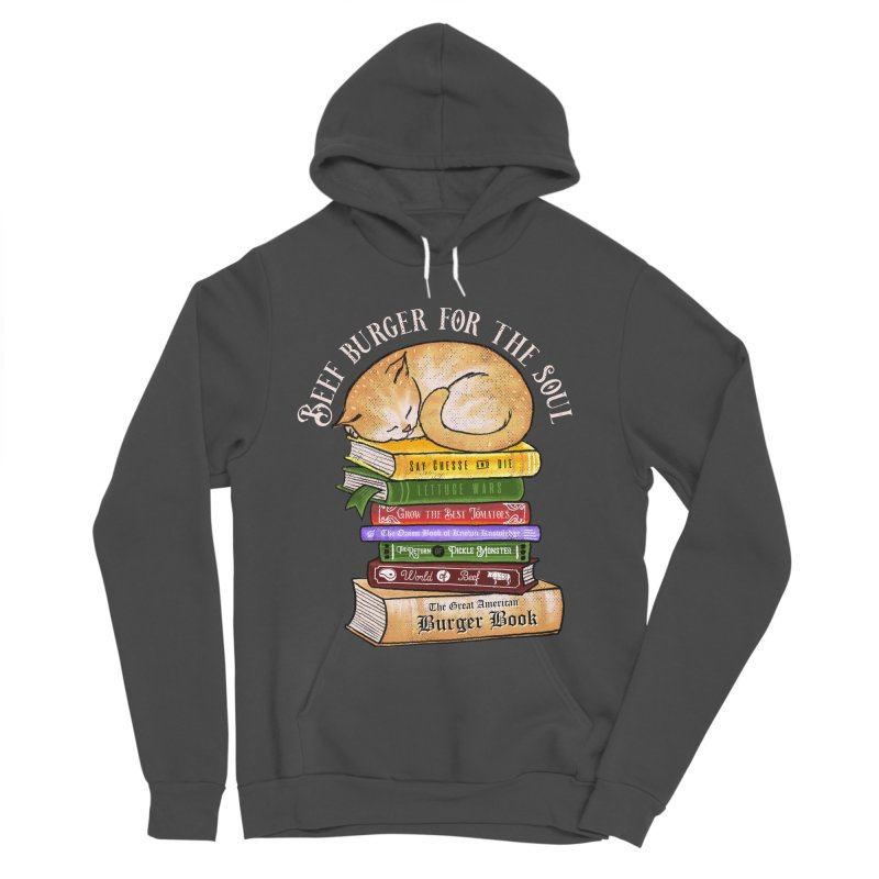 Beef Burger for The Soul Men's Sponge Fleece Pullover Hoody by kooky love's Artist Shop