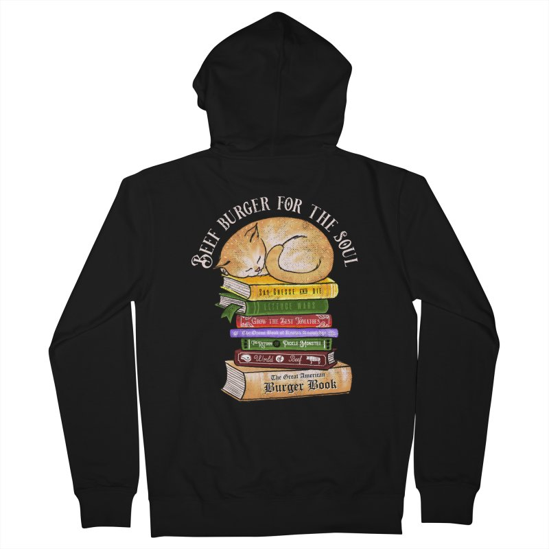 Beef Burger for The Soul Men's French Terry Zip-Up Hoody by kooky love's Artist Shop