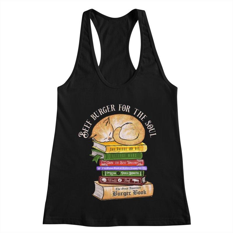 Beef Burger for The Soul Women's Racerback Tank by kooky love's Artist Shop
