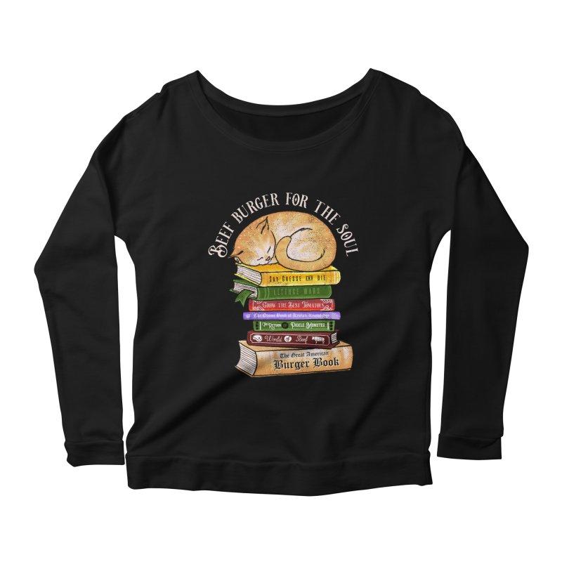 Beef Burger for The Soul Women's Scoop Neck Longsleeve T-Shirt by kooky love's Artist Shop