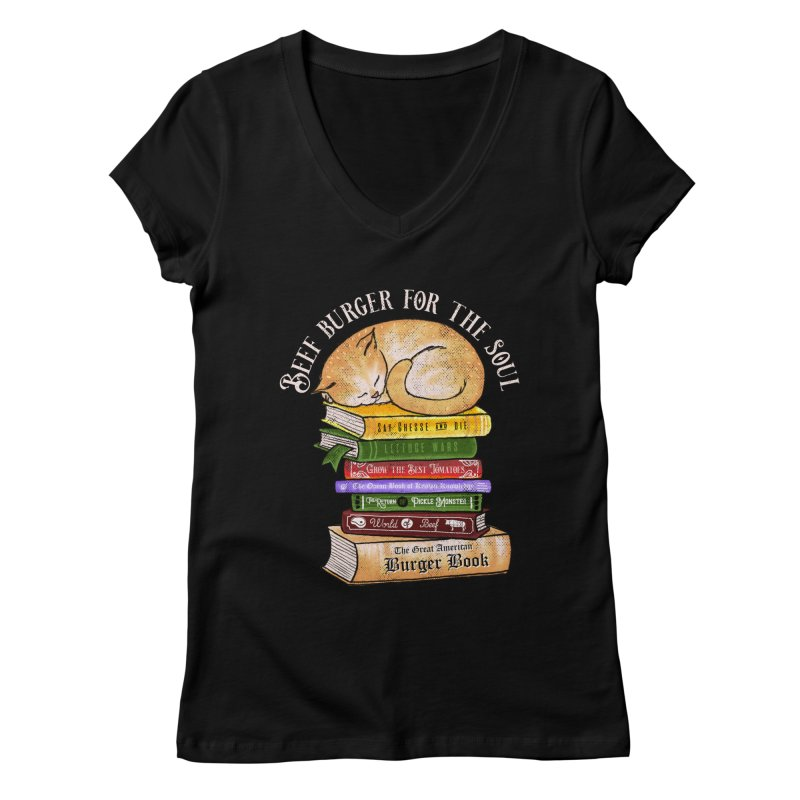 Beef Burger for The Soul Women's Regular V-Neck by kooky love's Artist Shop