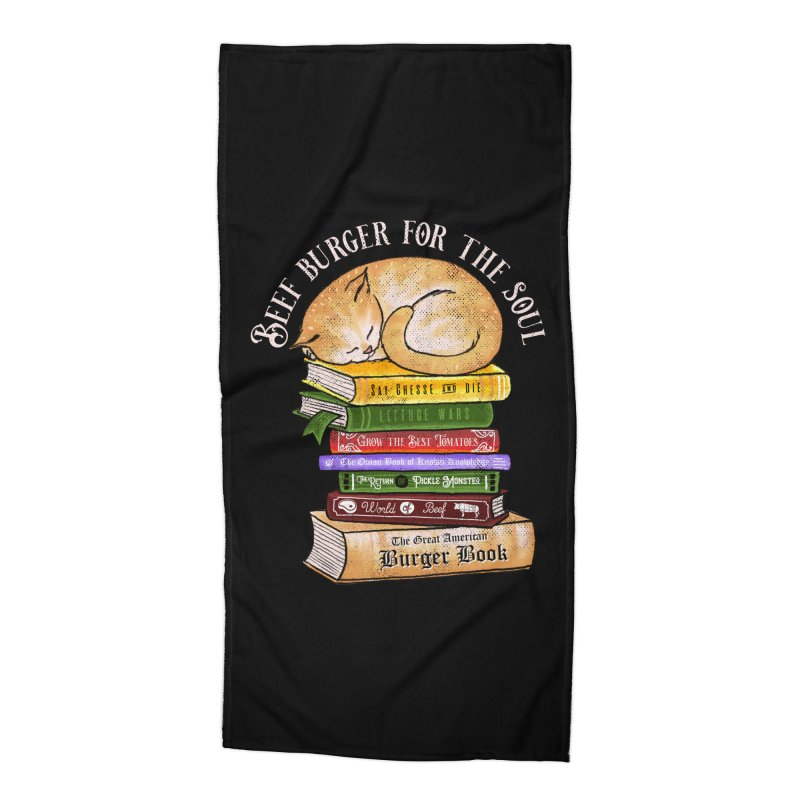 Beef Burger for The Soul Accessories Beach Towel by kooky love's Artist Shop
