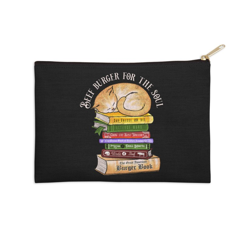 Beef Burger for The Soul Accessories Zip Pouch by kooky love's Artist Shop