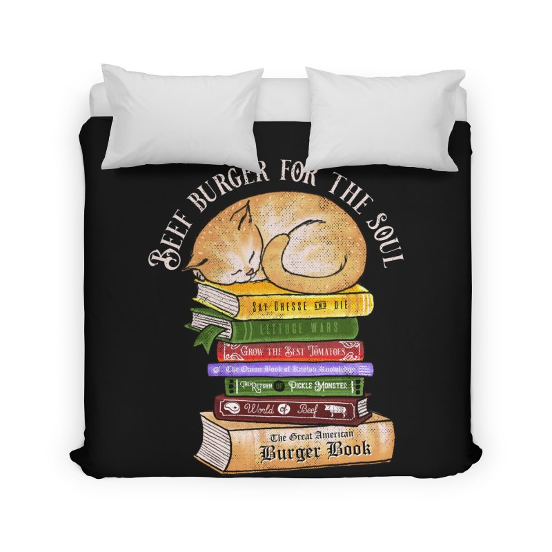 Beef Burger for The Soul Home Duvet by kooky love's Artist Shop
