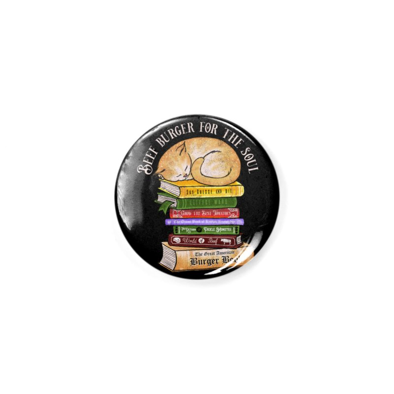Beef Burger for The Soul Accessories Button by kooky love's Artist Shop