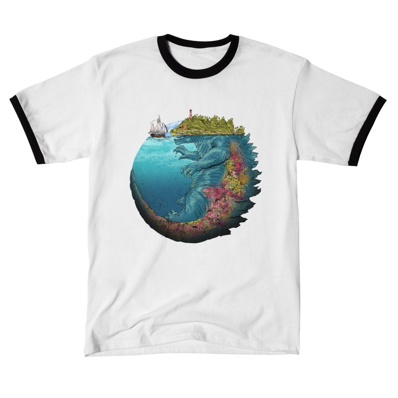 Kaiju Island Men's T-Shirt by kooky love's Artist Shop
