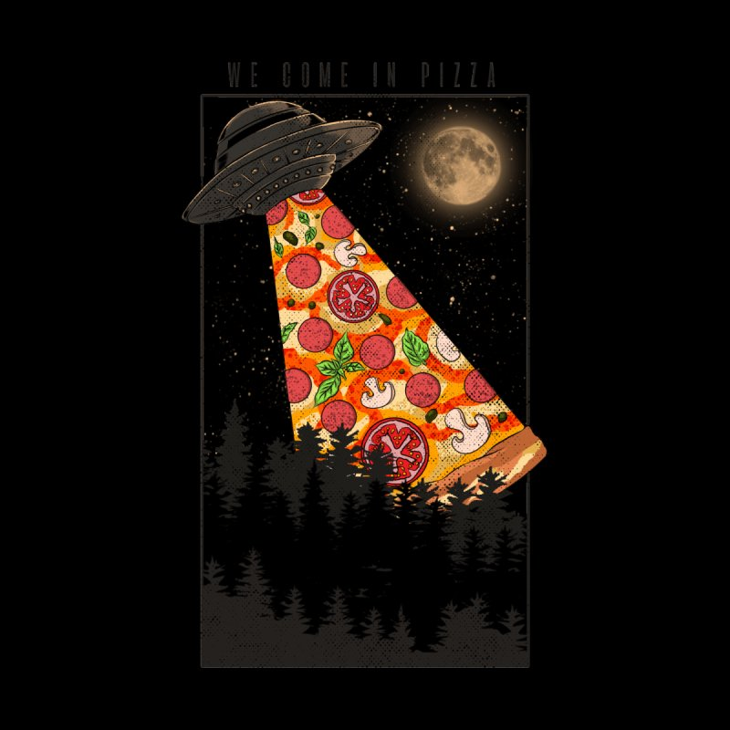 We Come In Pizza Men's T-Shirt by kooky love's Artist Shop