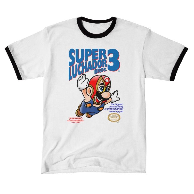 SUPER LUCHADOR Men's T-Shirt by kooky love's Artist Shop