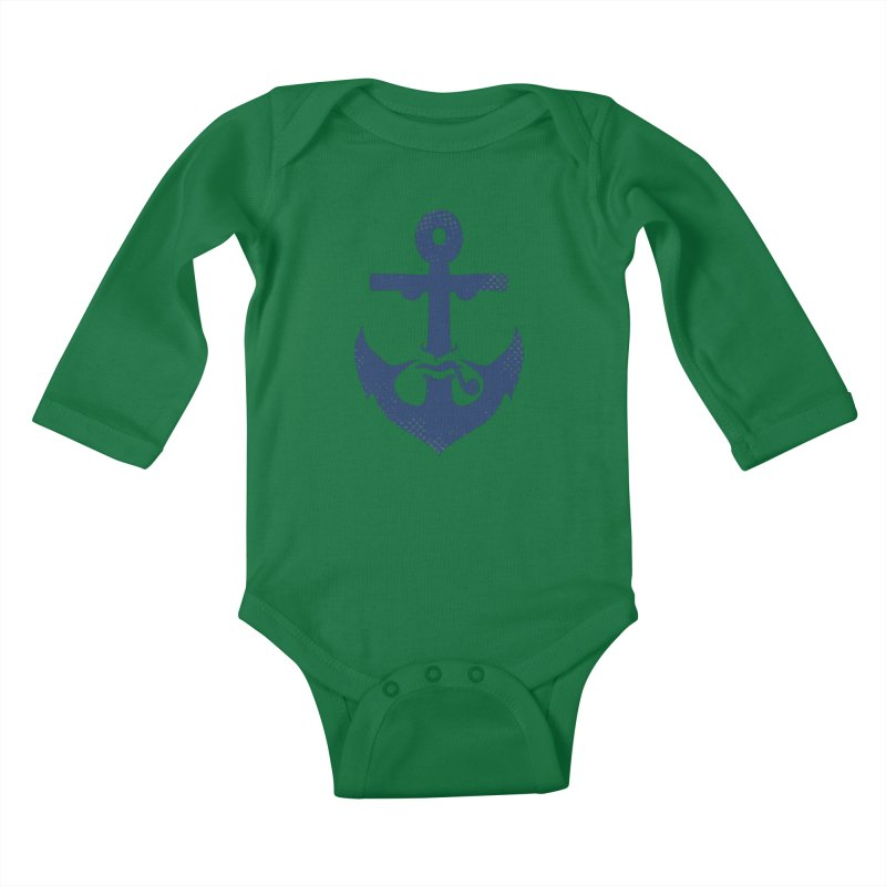 Naughtical Kids Baby Longsleeve Bodysuit by kooky love's Artist Shop