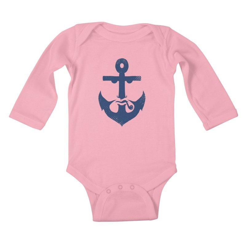 Naughtical Kids Baby Longsleeve Bodysuit by kooky love's Artist Shop