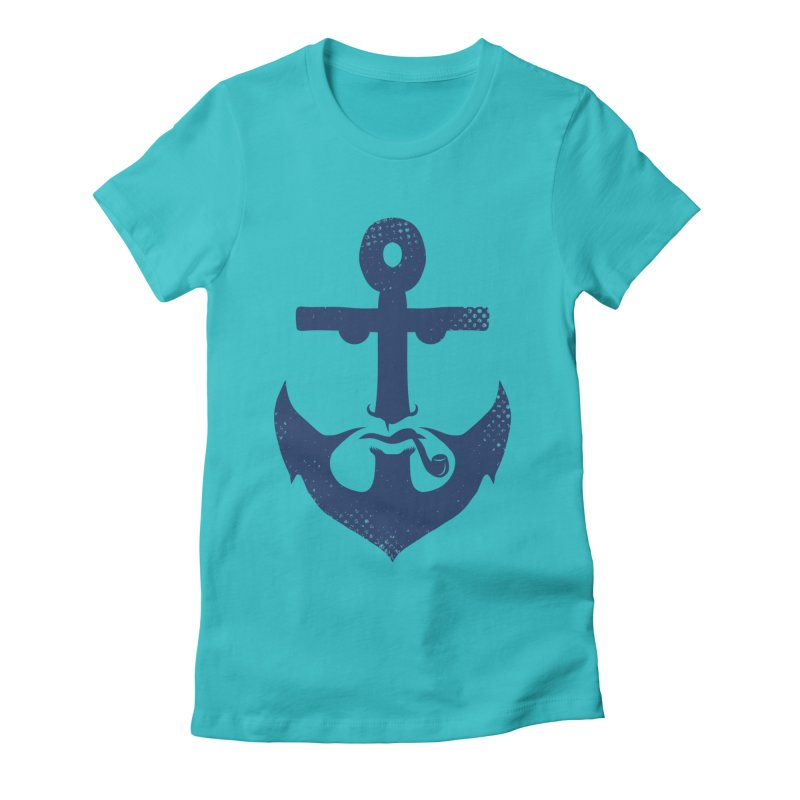 Naughtical Women's Fitted T-Shirt by kooky love's Artist Shop