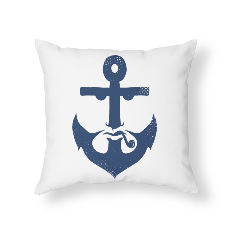 Naughtical Home Throw Pillow by kooky love's Artist Shop