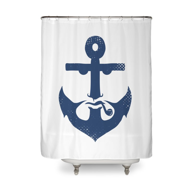 Naughtical Home Shower Curtain by kooky love's Artist Shop