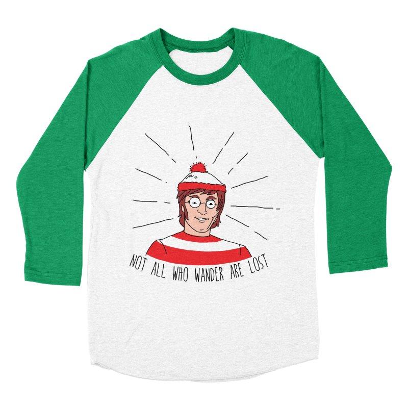 Not who wander are lost  Women's Baseball Triblend T-Shirt by kooky love's Artist Shop
