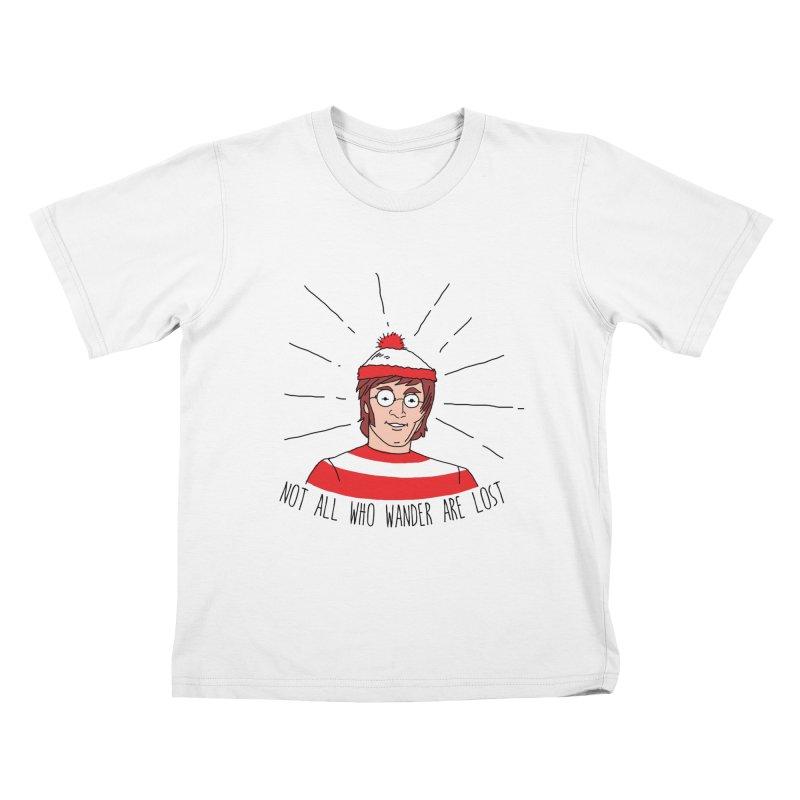 Not who wander are lost  Kids T-shirt by kooky love's Artist Shop