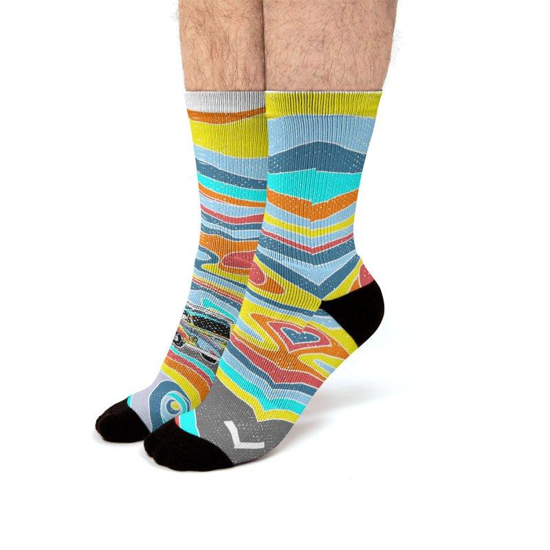 Road Trippin' Men's Socks by kooky love's Artist Shop