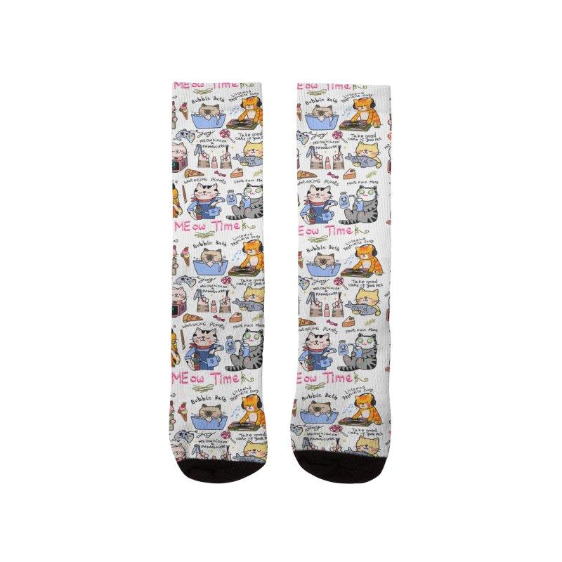MEow Time Men's Socks by kooky love's Artist Shop