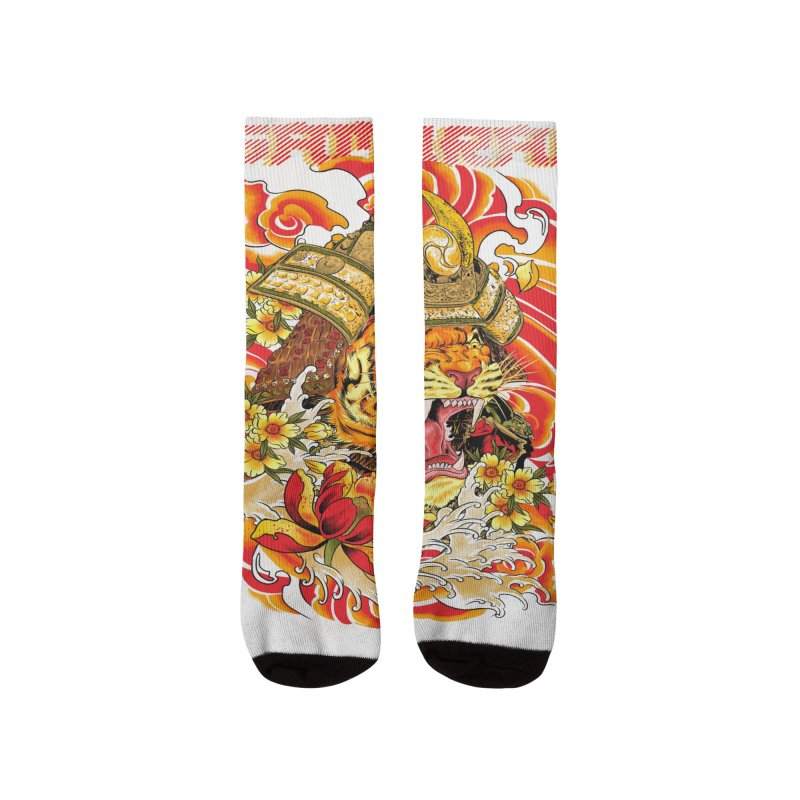 Shogun Tiger Men's Socks by kooky love's Artist Shop