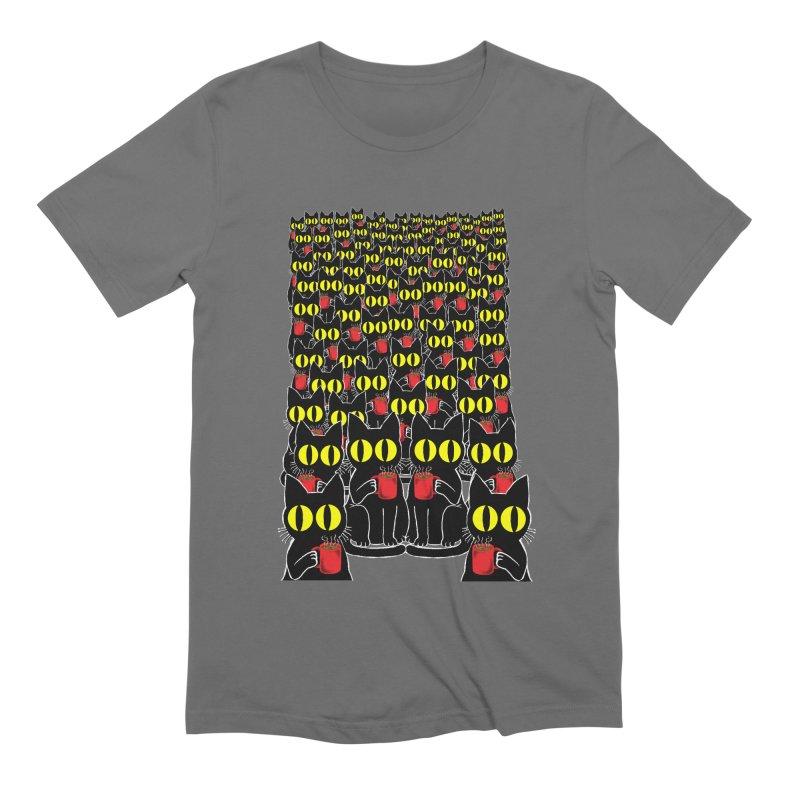 Coffeecat Men's T-Shirt by kooky love's Artist Shop