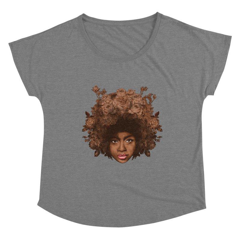 Black Rose Women's Scoop Neck by kooky love's Artist Shop