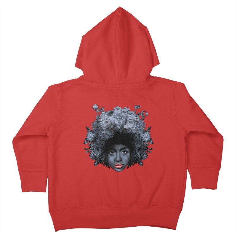 Black Rose Kids Toddler Zip-Up Hoody by kooky love's Artist Shop