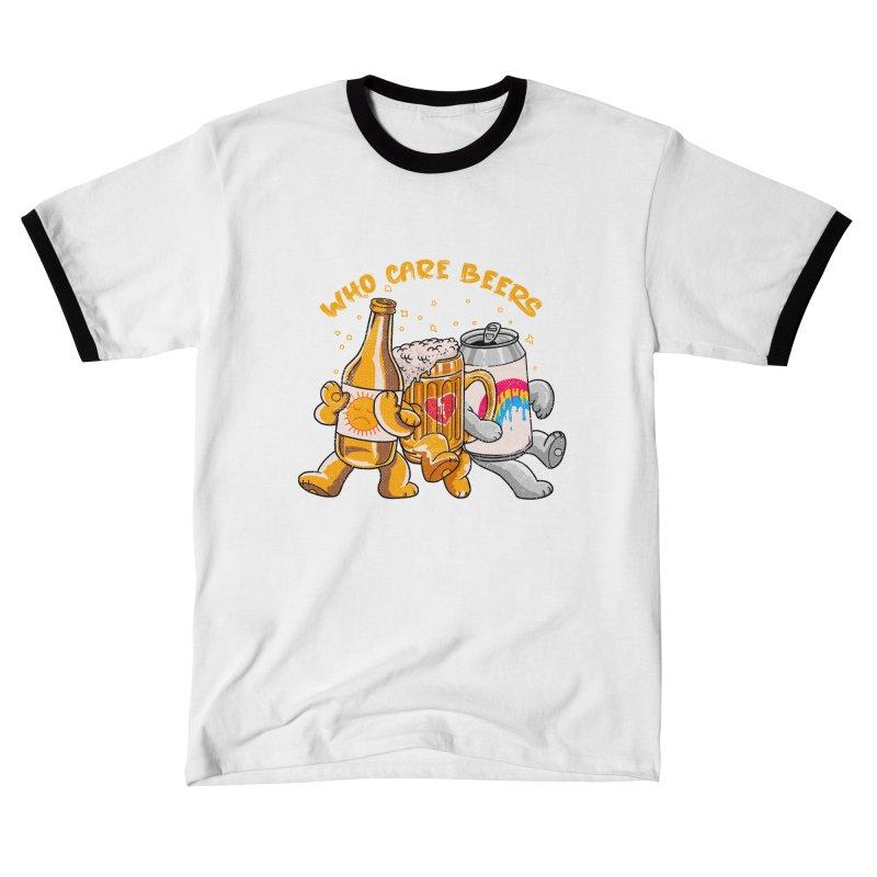WHO CARE BEERS Women's T-Shirt by kooky love's Artist Shop