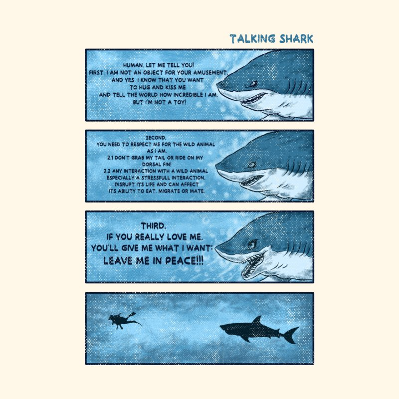 Talking Shark Accessories Magnet by kooky love's Artist Shop