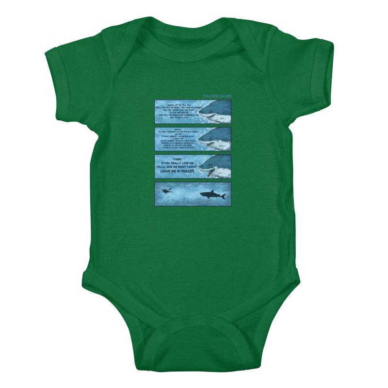 Talking Shark Kids Baby Bodysuit by kooky love's Artist Shop