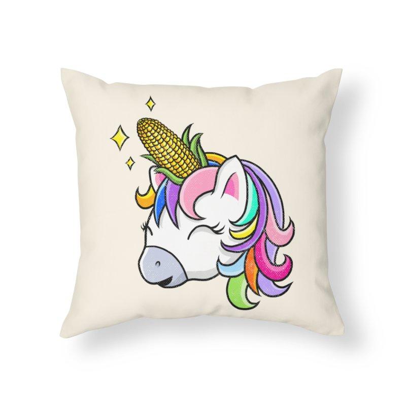 UNICORNY Home Throw Pillow by kooky love's Artist Shop