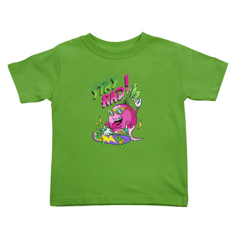 STAY RAD! Kids Toddler T-Shirt by kooky love's Artist Shop