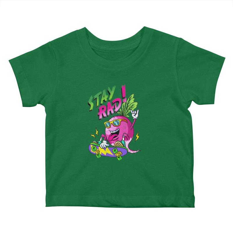 STAY RAD! Kids Baby T-Shirt by kooky love's Artist Shop
