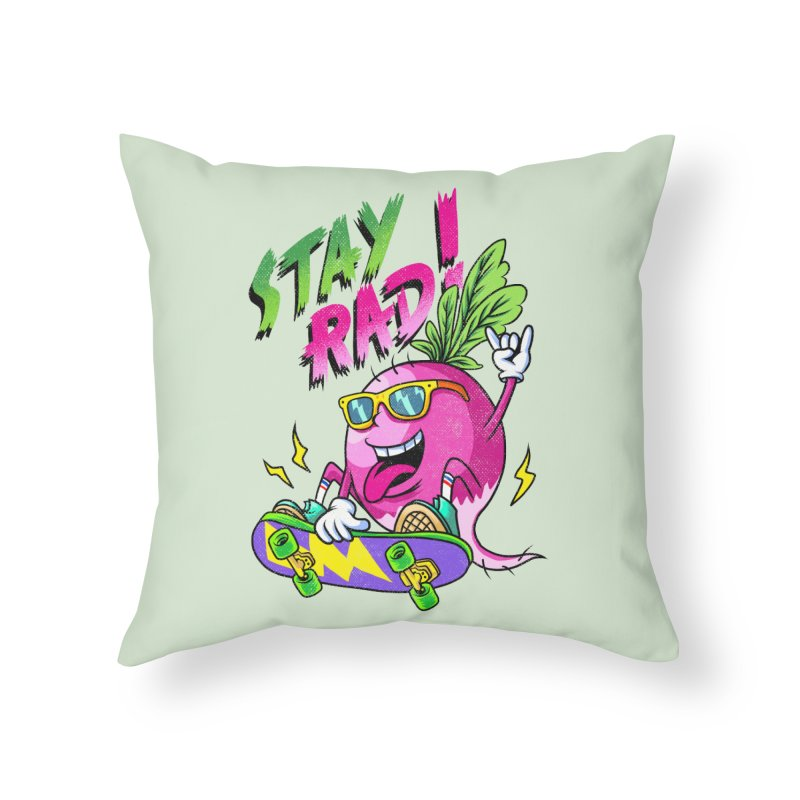 STAY RAD! Home Throw Pillow by kooky love's Artist Shop