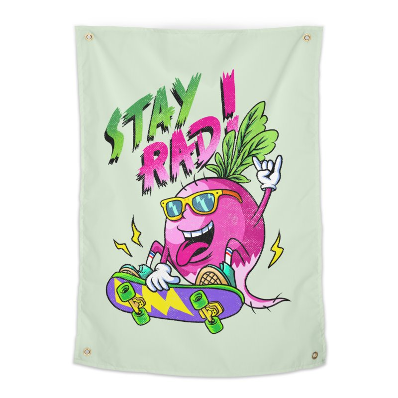 STAY RAD! Home Tapestry by kooky love's Artist Shop