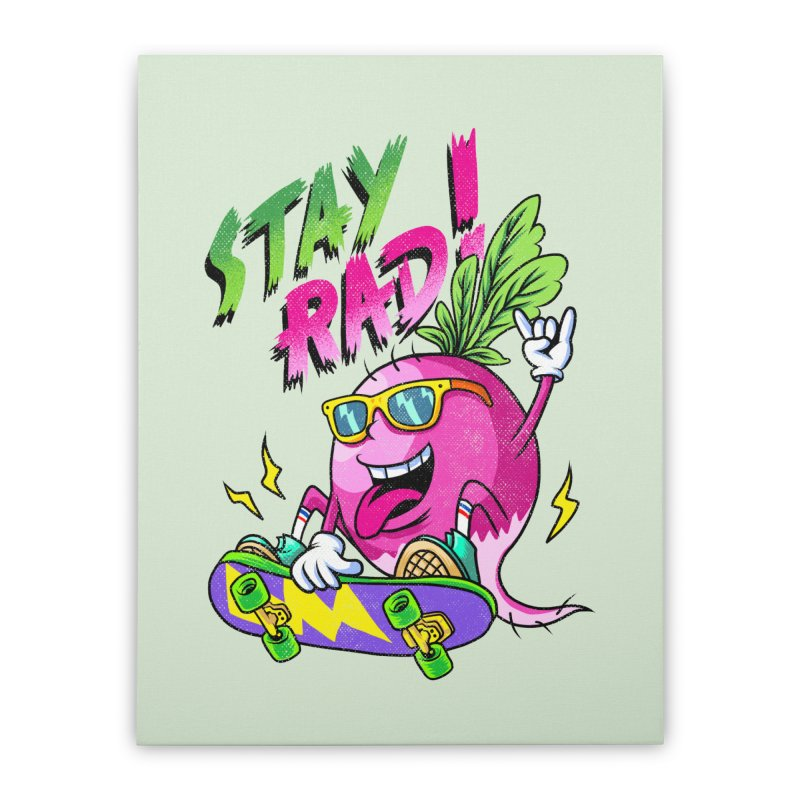 STAY RAD! Home Stretched Canvas by kooky love's Artist Shop